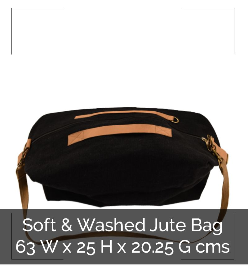 WASHED JUTE WEEKENDER BAG - IG8B010