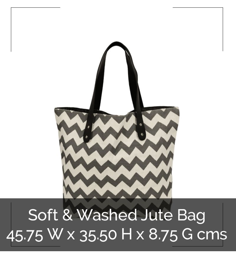 FANCY SOFT JUTE TOTE - IG8B016