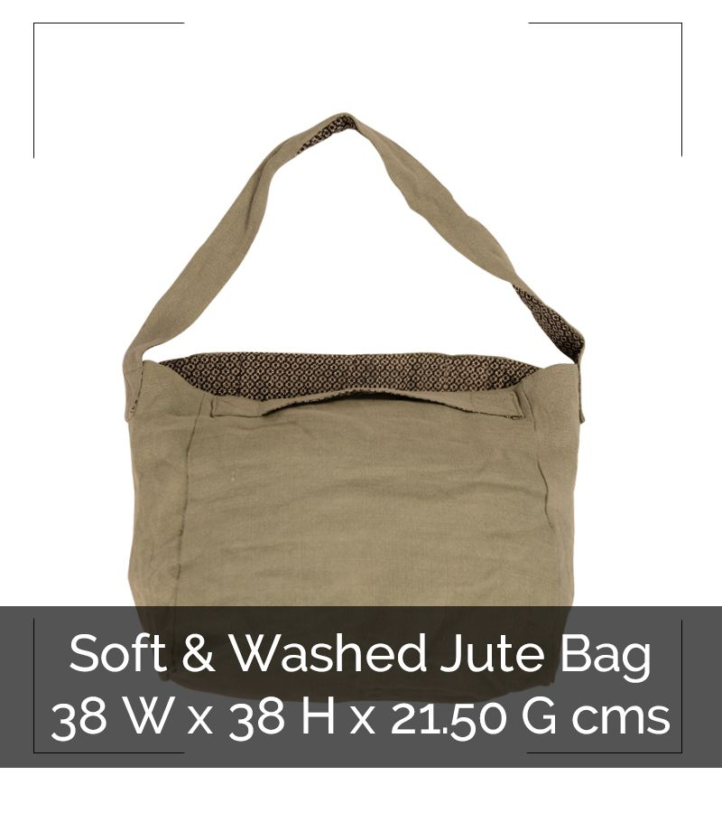 WASHED JUTE SHOULDER BAG - IG8B031