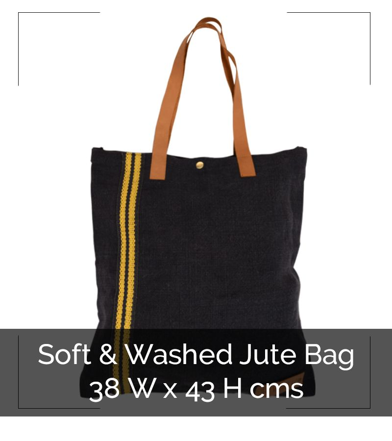 WASHED JUTE FLAT BAG - IG8B032