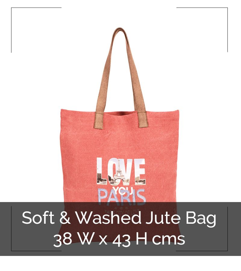 SOFT & WASHED JUTE BAG - IG8B044